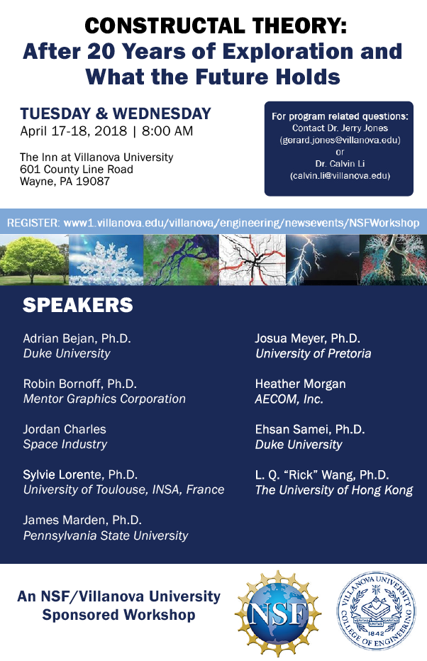 Constructal Theory: What the future holds – NSF Workshop and Franklin Institute Symposium